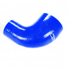 Silicone Tubing Reducer - 90 Degree Elbow 2.00 To 2.25 Inch, Blue