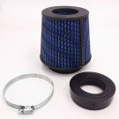Universal High Performance Intake Cone with Adapter from 2.25 in. to 4 in. (Blue)