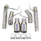 """Ford Mustang 05-10 V8 GT / GT500 2.5"""" Dual Axle Back FlowMaxx Exhaust, Straight Pipe"""