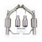 """Ford Mustang 11-14 V8 GT / BOSS 302 / GT500 2.5"""" Dual Axle Back FlowMaxx Exhaust Kit, Sports Pipe"""