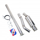 Single Exit Cat-Back Exhaust Kit, Stainless Steel, 3 Inch Pipe, Mitsubishi Evolution X 08-15