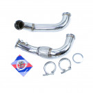 "Honda K20 Sidewinder 3"" V-band Exit 3"" Turbo Downpipe Stainless Steel"