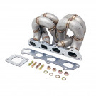 HP-Series Honda Civic B16 B18 Ram Horn Equal Length T3 Turbo Manifold (AC/PS)