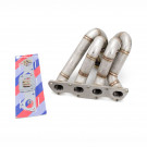 HP-Series Honda Civic B16 B18 Top Mount Equal Length T3 Turbo Manifold 44mm V-Band Wastegate