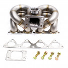 HP-Series Honda Civic B16 B18 Ram Horn Equal Length T3 Turbo Manifold 44mm V-Band Wastegate