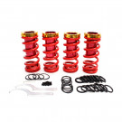 Acura, Honda Civic Lowering Spring Sleeve Kit, Red and Gold