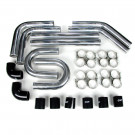 "Universal Intercooler Pipping Kit, Aluminum, 2-1/4"", Black Coupler"