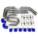 "Universal Intercooler Pipping Kit, Aluminum, 3"", Blue Coupler"