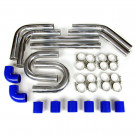 "Universal Intercooler Pipping Kit, Aluminum, 2-1/2"", Blue Coupler"